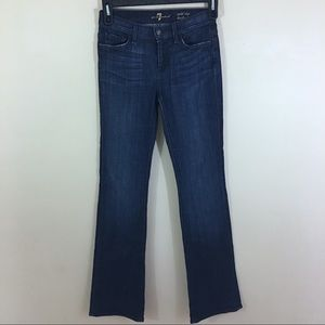 7 For All Mankind Mid Rise Boot Cut Jeans SZ 26